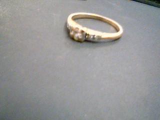 Lady's Diamond Engagement Ring 5 Diamonds .24 Carat T.W. 14K Yellow Gold 1.9g