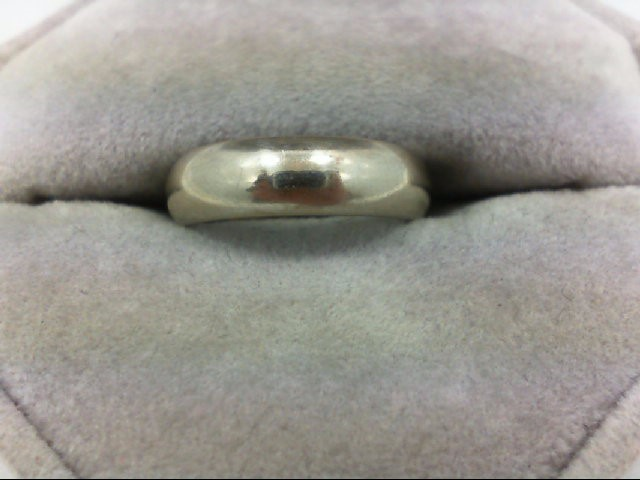 Lady's Gold Wedding Band 14K White Gold 4.7g Size:5