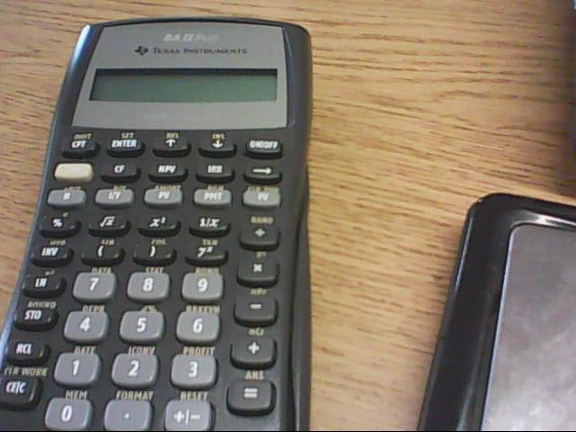 TEXAS INSTRUMENTS Calculator BA II PLUS