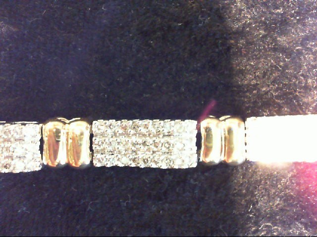 Gold-Diamond Bracelet 217 Diamonds 2.17 Carat T.W. 14K 2 Tone Gold 18.2g