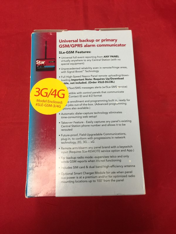 STAR LINK Car Alarms & Security SLE-GSM-3/4G