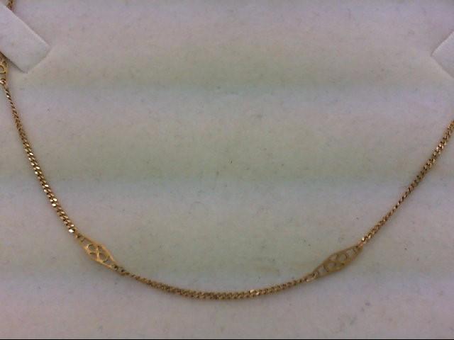 "14"" Gold Fashion Chain 14K Yellow Gold 2.4g"