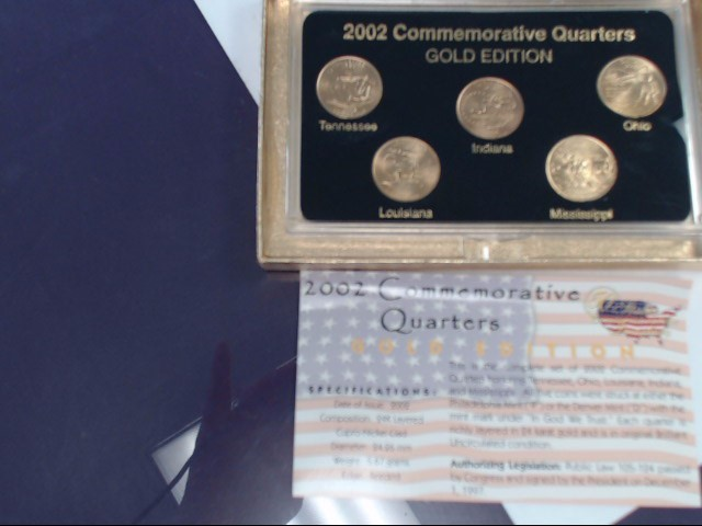 50 STATES COMMEMORATIVE QUARTERS 2002 GOLD EDITION