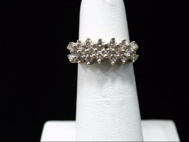 Lady's Gold-Diamond Anniversary Ring 20 Diamonds .40 Carat T.W. 14K Yellow Gold