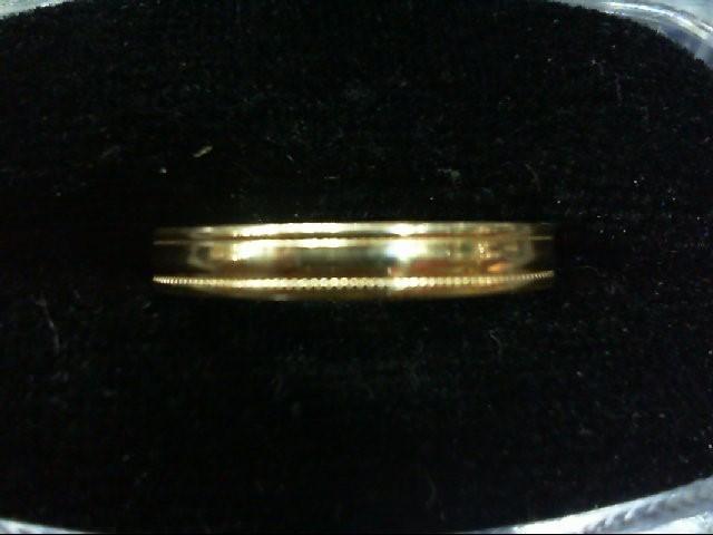 Lady's Gold Wedding Band 10K Yellow Gold 1.9g Size:9.5
