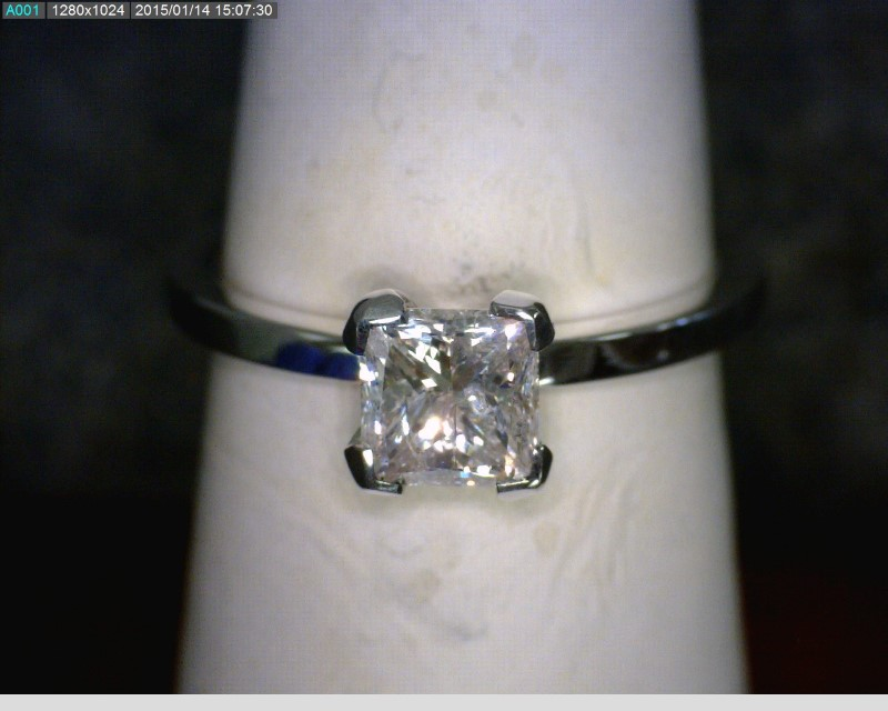 Lady's Diamond Solitaire Ring 1.01 CT. 18K White Gold 3.28dwt Size:6