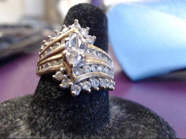 Lady's Diamond Fashion Ring 39 Diamonds 1.26 Carat T.W. 10K Yellow Gold 4.84g