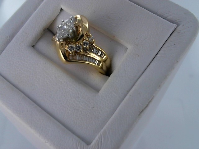 Lady's Diamond Engagement Ring 33 Diamonds .74 Carat T.W. 14K Yellow Gold