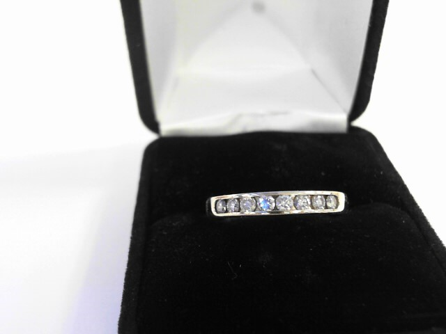 Lady's Diamond Wedding Band 8 Diamonds .40 Carat T.W. 14K Yellow Gold 4.5dwt