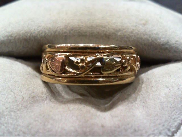 Lady's Gold Ring 10K Tri-color Gold 4.1g