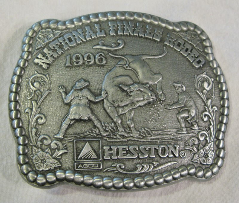 HESSTON NATIONAL FINALS 1996 RODEO BUCKLE