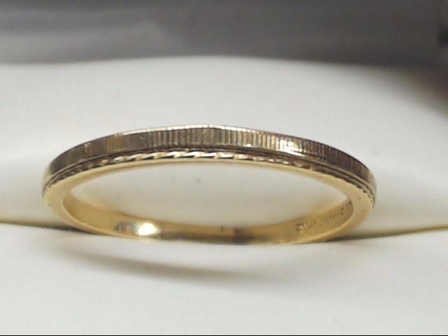 Lady's Gold Wedding Band 14K Yellow Gold 1.5g Size:7