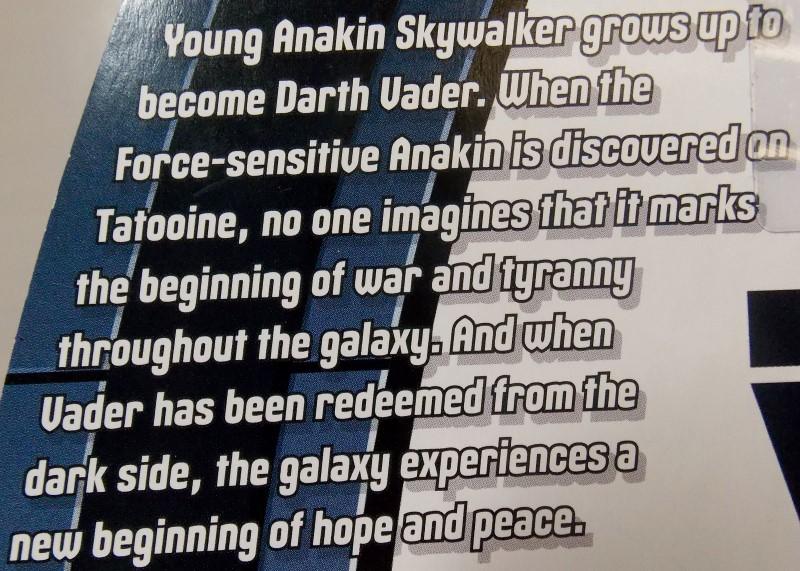 STAR WARS DARTH VADER & ANAKIN SKYWALKER 2 FIGURE SET, THE RISE OF DARTH VADER
