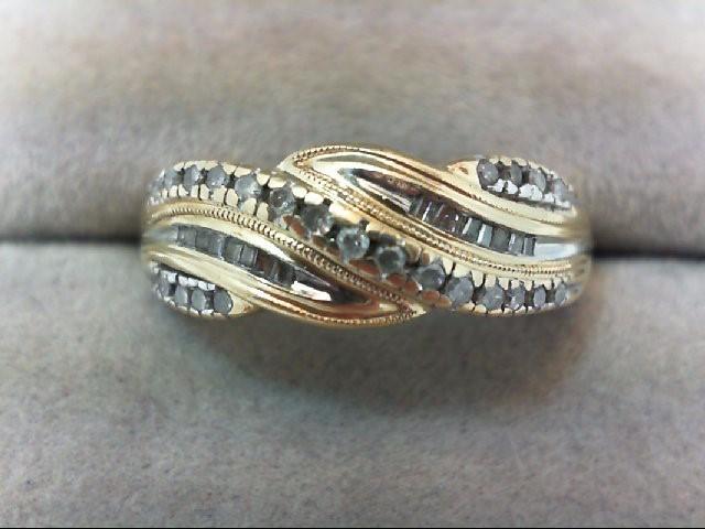 Lady's Diamond Cluster Ring 39 Diamonds .39 Carat T.W. 14K Yellow Gold 3.3g