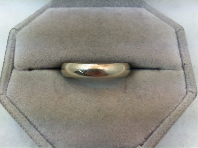 Lady's Gold Wedding Band 14K White Gold 4.9g Size:6.5