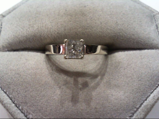 Lady's Diamond Engagement Ring .46 CT. 14K White Gold 3.8g