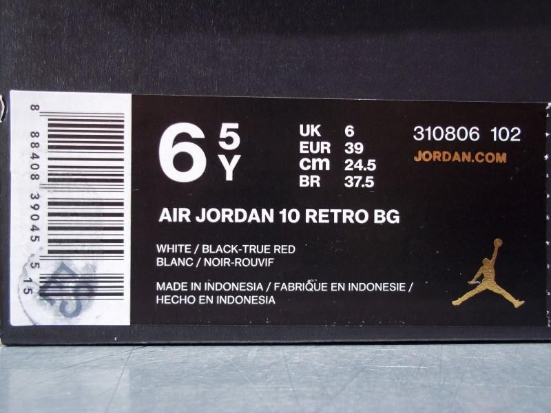 NIKE AIR JORDAN 10 RETRO BG SIZE 6.5Y