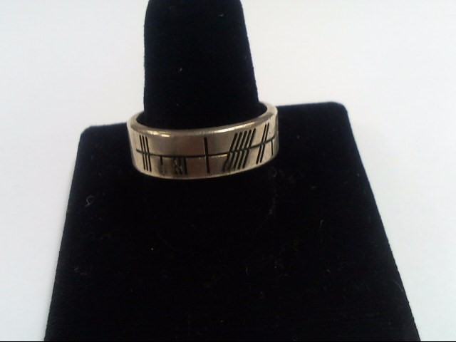Gent's Silver Ring 925 Silver 7.7g Size:10