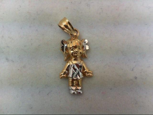 Gold Charm 14K 2 Tone Gold 0.9g