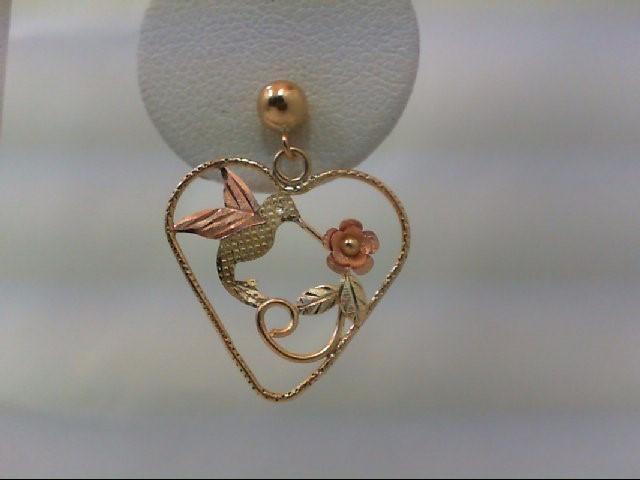 Gold Earrings 14K Tri-color Gold 1.4g