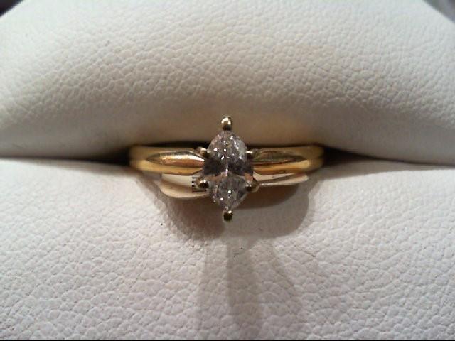 Lady's Diamond Engagement Ring .35 CT. 14K Yellow Gold 2.2g