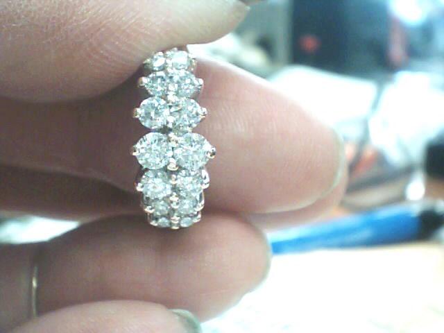 Lady's Diamond Cluster Ring 15 Diamonds 1.01 Carat T.W. 14K Yellow Gold 2.1dwt