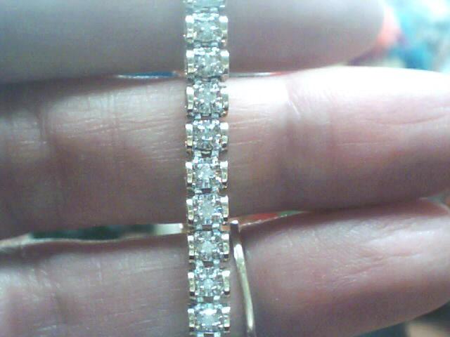 Gold-Diamond Bracelet 48 Diamonds .48 Carat T.W. 14K Yellow Gold 5.9dwt