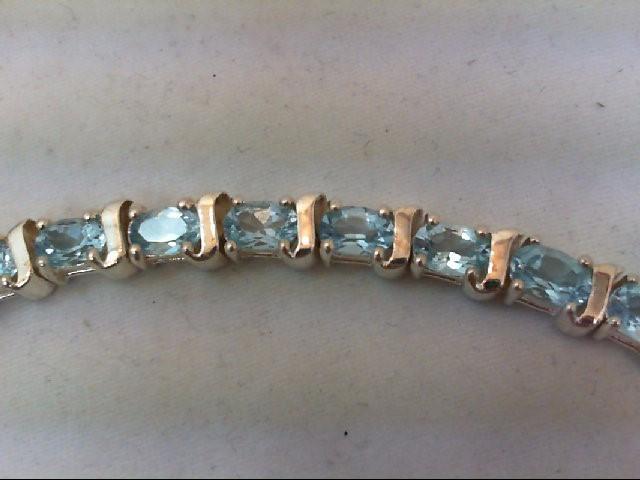 Blue Topaz Silver-Stone Bracelet 925 Silver 18g