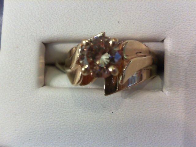 Lady's Diamond Engagement Ring .95 CT. 14K Yellow Gold 4.6g