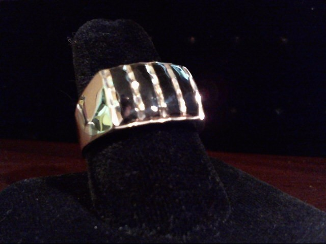 Synthetic Onyx Gent's Silver & Stone Ring 925 Silver 7g