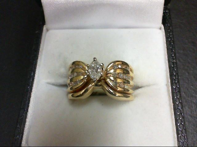 Lady's Diamond Wedding Set 25 Diamonds 0.72 Carat T.W. 14K Yellow Gold 10.6g