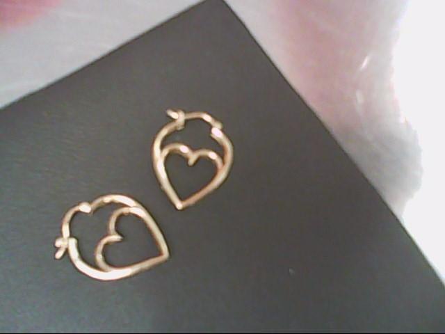 Gold-Diamond Earrings 20 Diamonds .20 Carat T.W. 10K Yellow Gold 2.1g