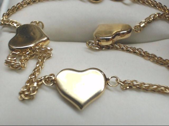 Gold Fashion Bracelet 10K Yellow Gold 2.1g