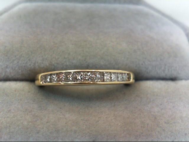 Lady's Diamond Wedding Band 11 Diamonds .44 Carat T.W. 10K Yellow Gold 2g