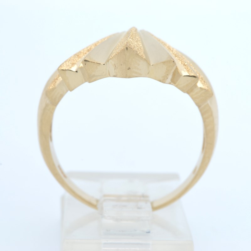 ESTATE SUN BURST RING SOLID 14K YELLOW GOLD STAR FINE BIG SIZE 9.75