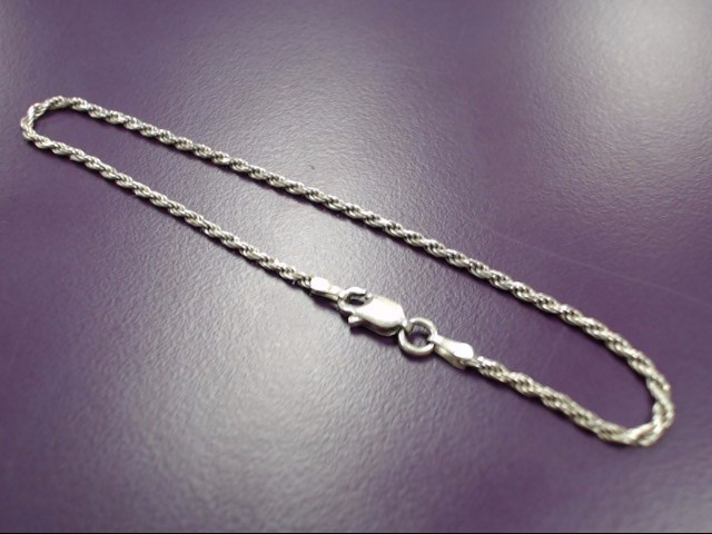 "8"" STERLING SILVER ROPE BRACELET, WITH 11G WEIGHT OF SILVER, FREE SHIPPING!!!"