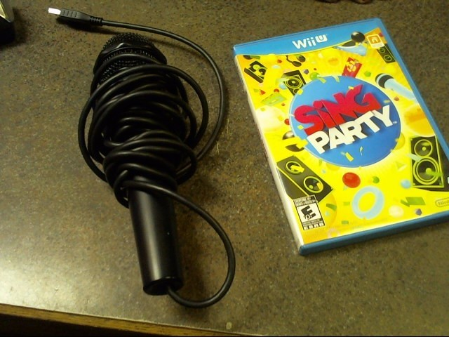 NINTENDO WII U SING PARTY GAME WITH MIC MICROPHONE MINT CONDITION!