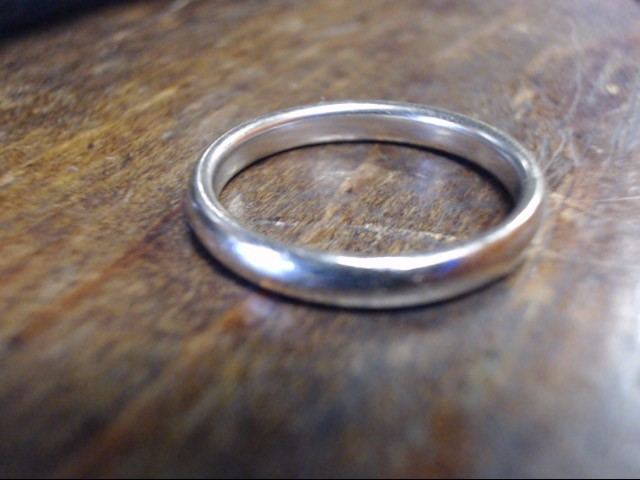 Lady's Gold Ring 14K White Gold 3.1g Size:7