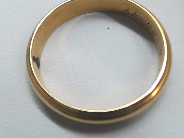 Gent's Gold Wedding Band 14K Yellow Gold 4.1g Size:9