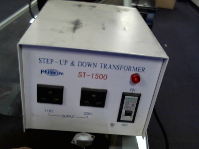 PHILMOORE STEP UP & DOWN TRANSFORMER ST-15000