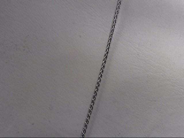 Diamond Necklace 3 Diamonds .18 Carat T.W. 14K White Gold 4.4g