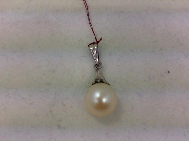 Pearl Gold-Stone Pendant 14K White Gold 1.6g