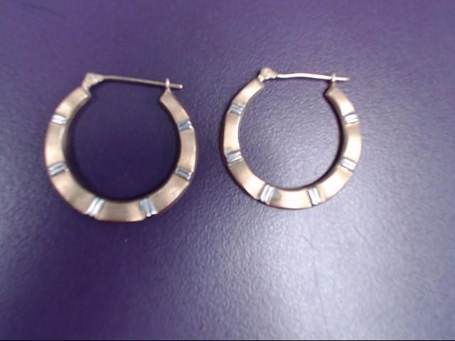 Gold Earrings 10K 2 Tone Gold 1.5g