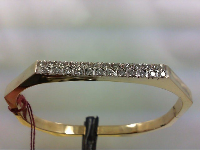 Gold-Diamond Bracelet 24 Diamonds .48 Carat T.W. 14K Yellow Gold 13.17g
