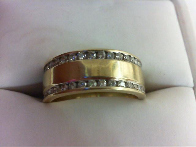 Lady's Diamond Wedding Band 38 Diamonds 0.76 Carat T.W. 14K Yellow Gold 5.7g