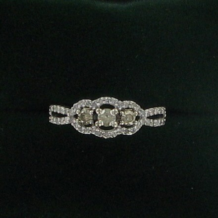 Lady's Diamond Fashion Ring 49 Diamonds 2.03 Carat T.W. 10K White Gold 2dwt