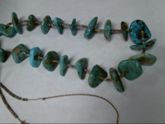 TURQUISE GREEN BLUE NECKLACE