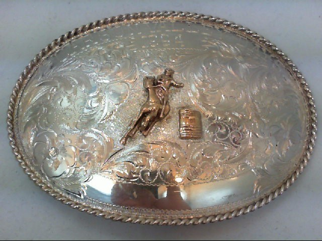 131 GMS SILVER AND 10KT CARSON VALLEY DAYS 1964 BUCKLE
