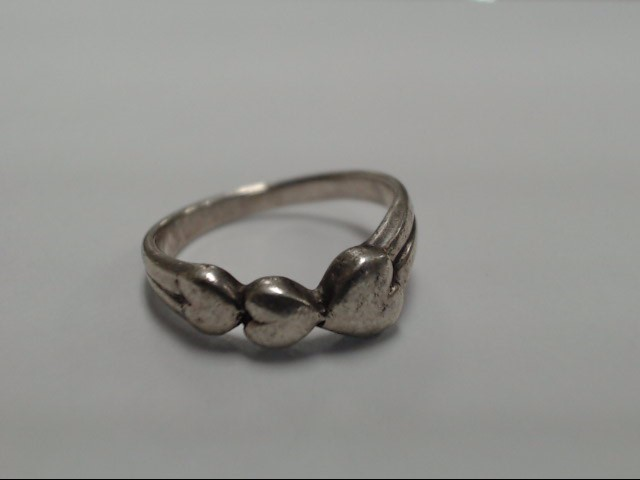 Lady's Silver Ring 925 Silver 2.56g Size:5.5