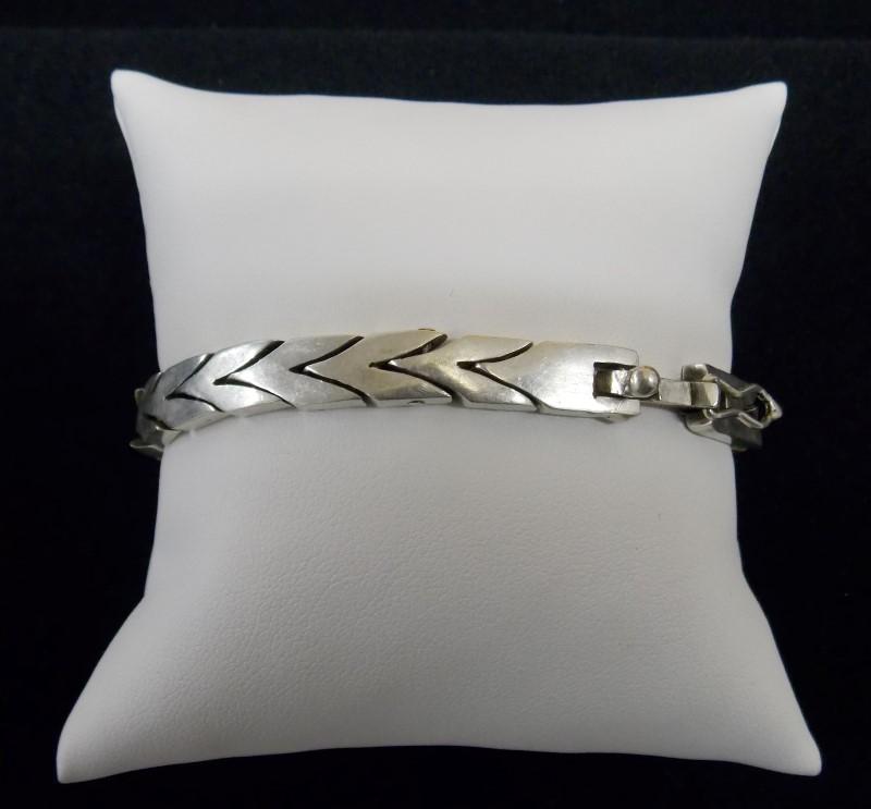 Silver Link Bracelet 925 Silver, TB-21 Mexico 21.99dwt